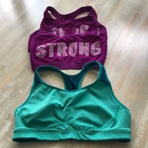 Set of 3 old navy workout bras medium support